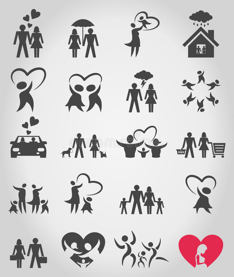 Download Icons a family8 stock vector. Image of child, fetus, life - 30202316