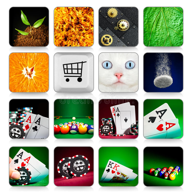 Download Collection Of Icons For Programs And Games Stock Photo - Image: 21713566