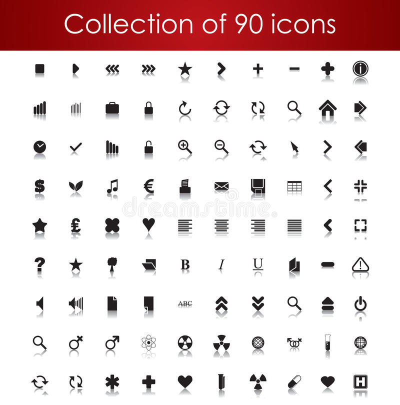 Collection of icons for your business website royalty free illustration