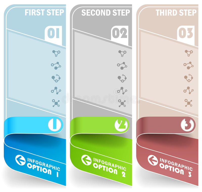 Collection of info stands. Set of information stands on a white background. Vector vector illustration