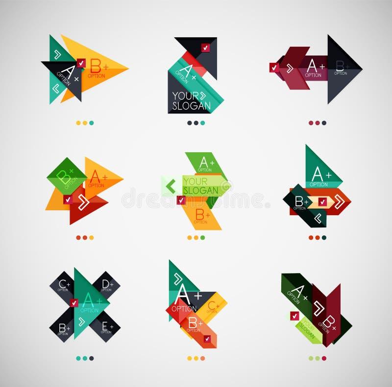 Collection infographic de conception de bannière d'option de vecteur illustration de vecteur