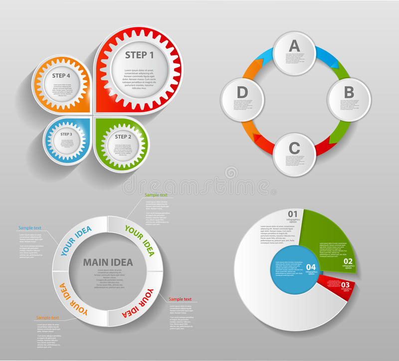 Collection of Infographic Templates for Business stock illustration