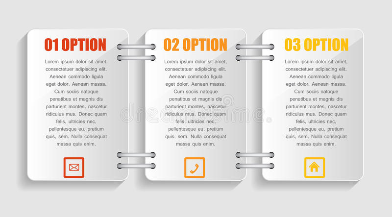 Collection of Infographic Templates for Business royalty free illustration