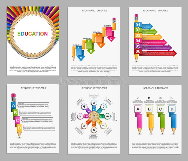 Collection infographics. Design elements. Infographics for education presentations or information banner. Vector illustration vector illustration