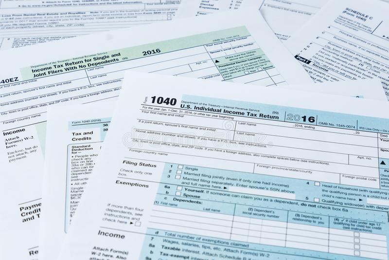 IRS Tax Forms stock photography