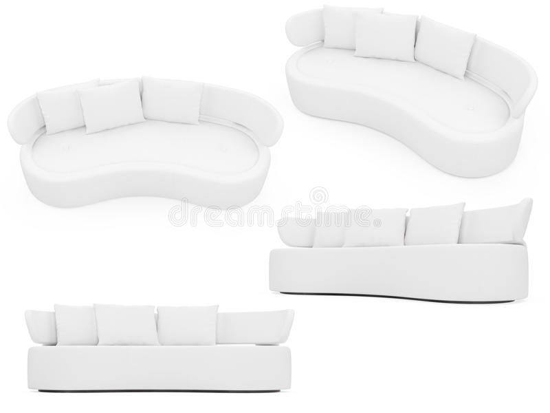 Collection of isolated sofas vector illustration