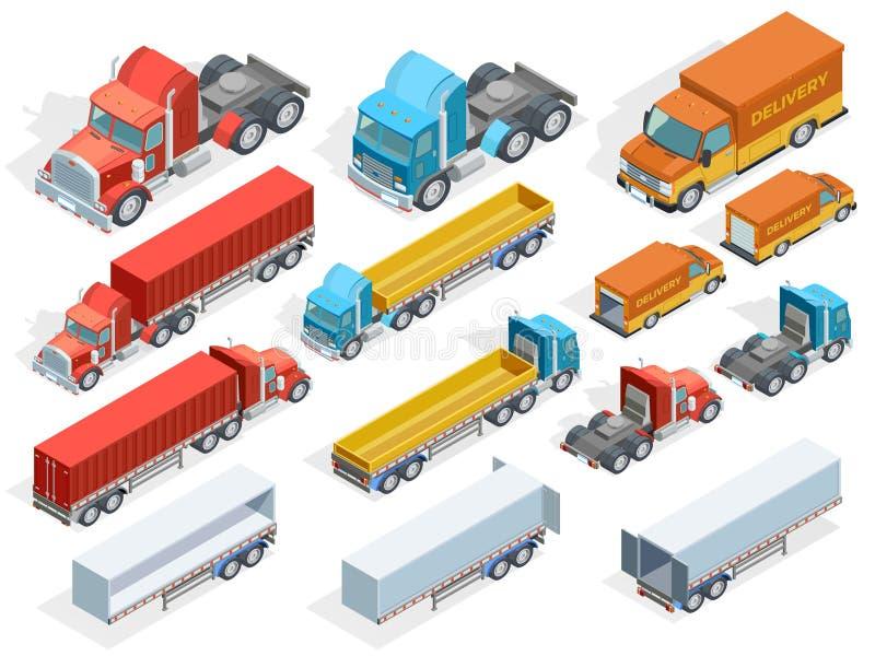 Collection isométrique de véhicule illustration de vecteur