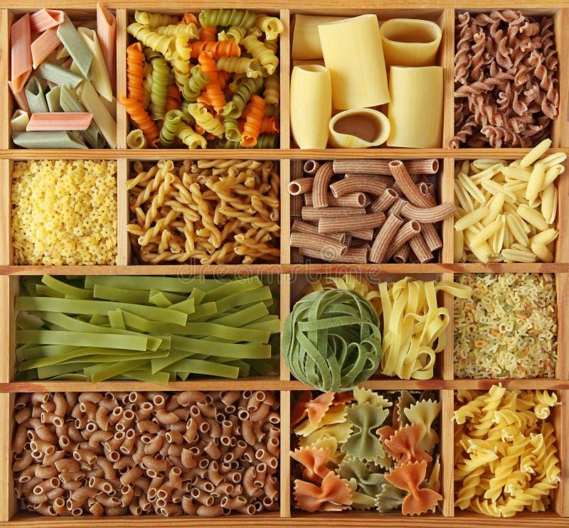 Collection italienne de pâtes photographie stock