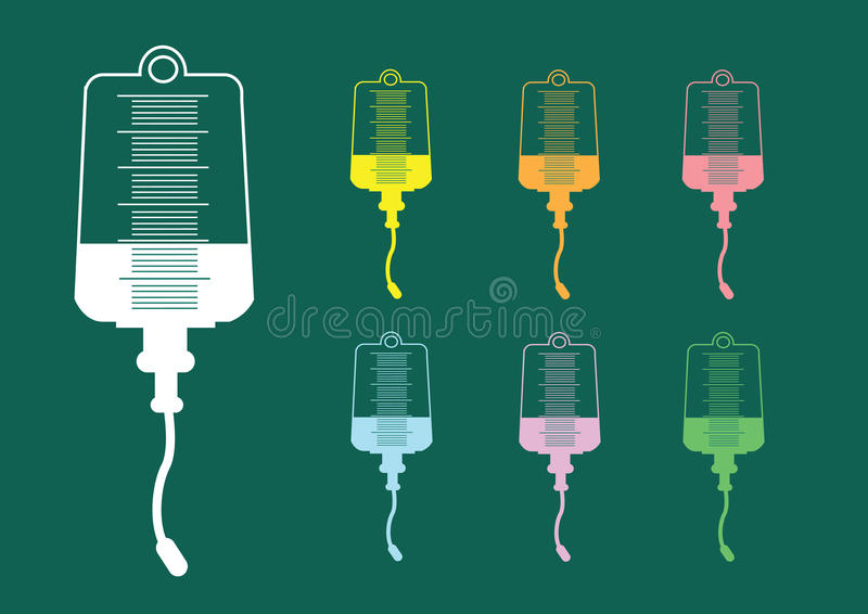 Collection of iv bag icon vector illustration