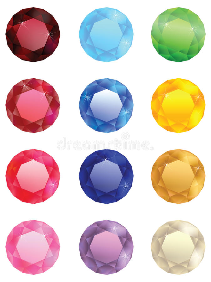 Download The collection of jewels stock vector. Image of love - 22137667