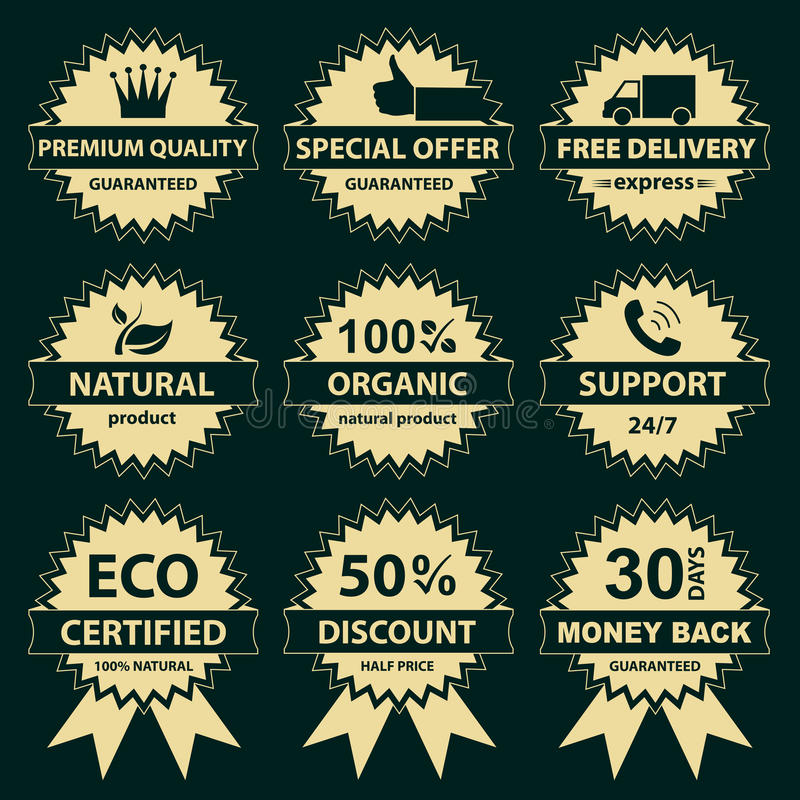 Collection Of Labels - For Sellers Royalty Free Stock Photography