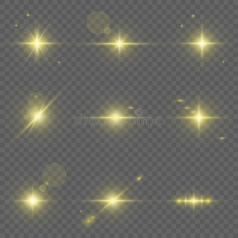 Collection of light effects. royalty free illustration