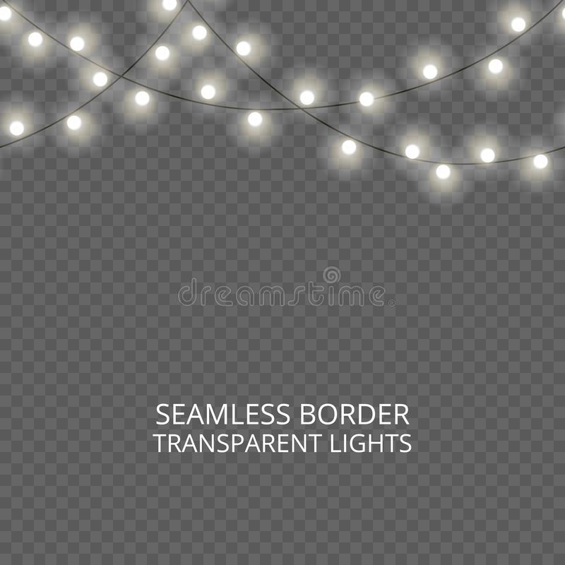 Collection of light effects. vector illustration