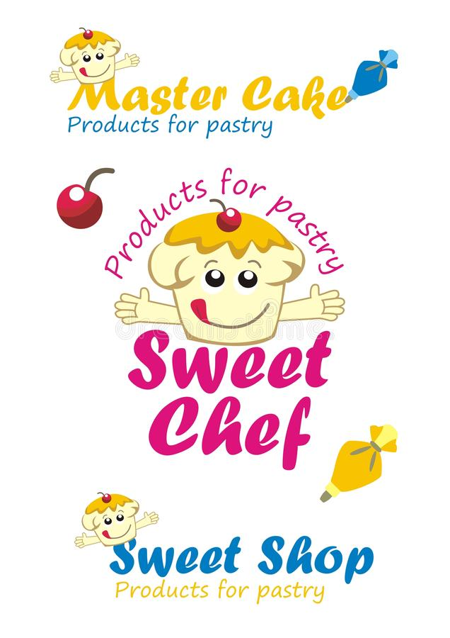Collection of logos desserts. All for pastry - Vector stock illustration
