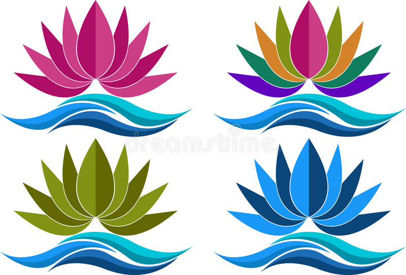 Download Collection lotus logos stock vector. Image of flower - 31032748