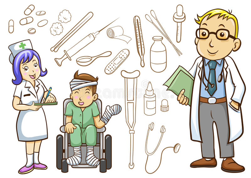 Collection médicale et d'hôpital illustration de vecteur