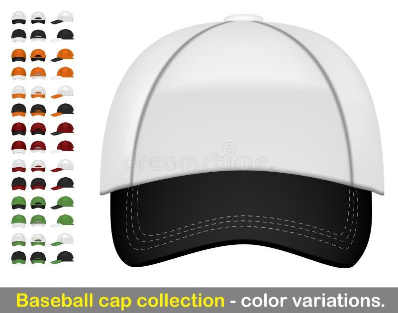 Collection méga de casquette de baseball illustration stock