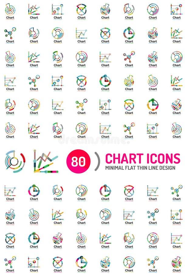 Collection méga de logos d'affaires de diagramme illustration libre de droits