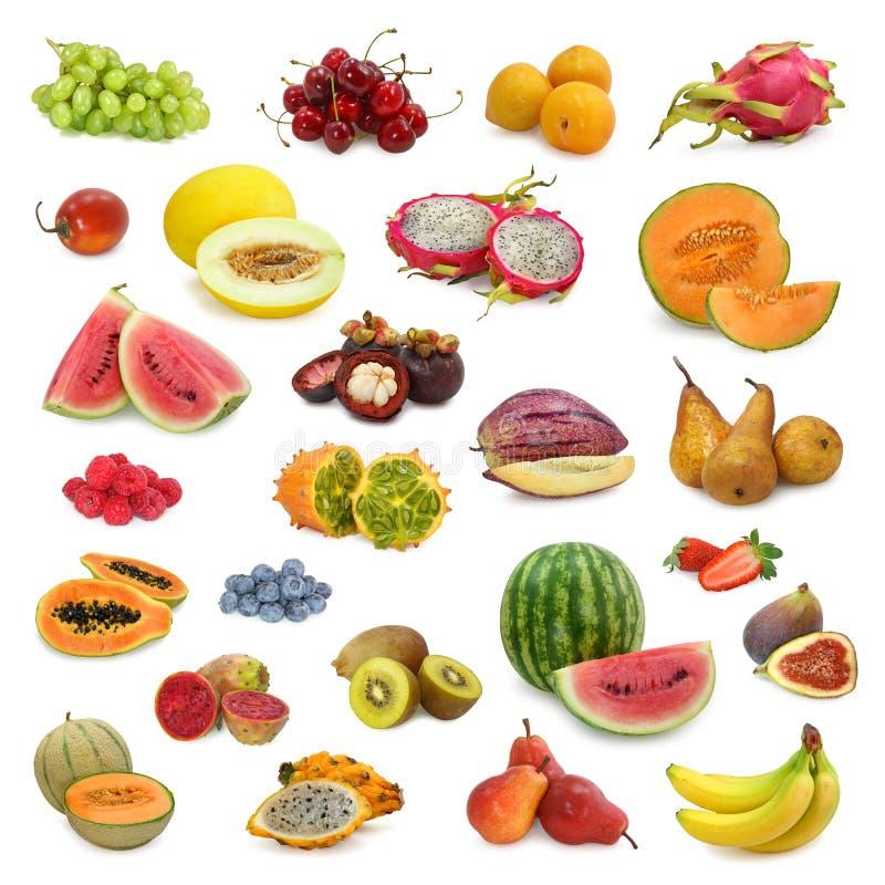 Collection mélangée de fruits photo libre de droits