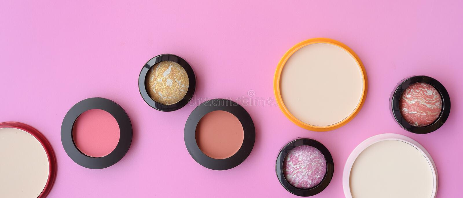 Collection of make up and cosmetic royalty free stock image