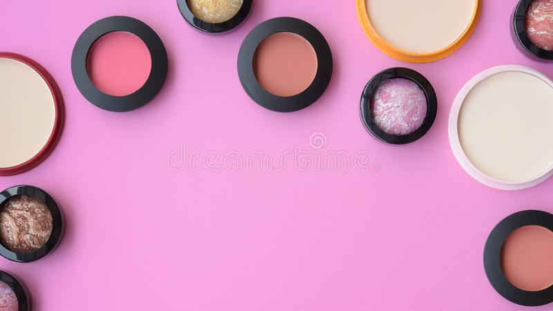 Collection of make up and cosmetic stock images