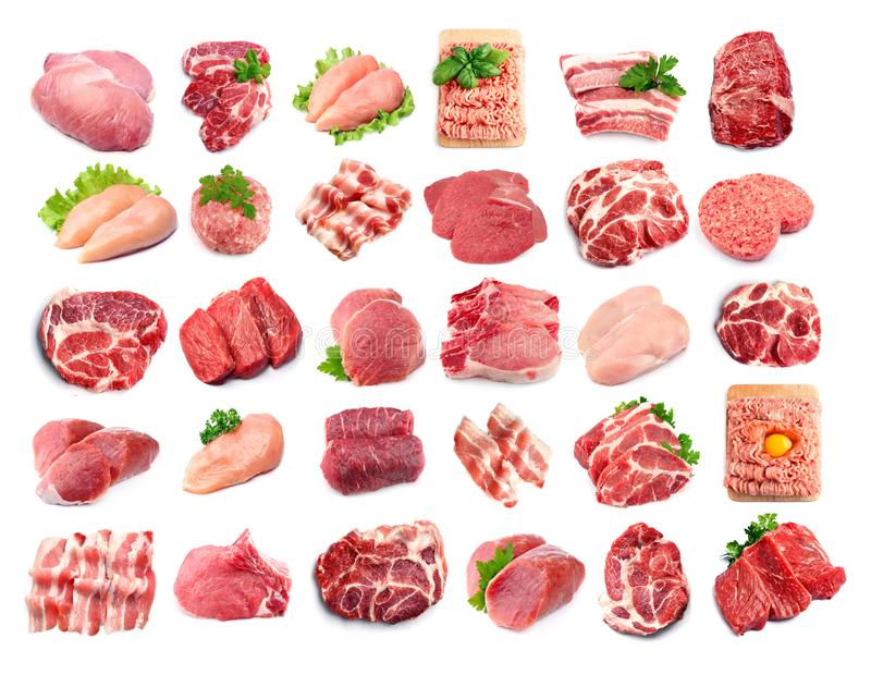 Collection of meat stock images