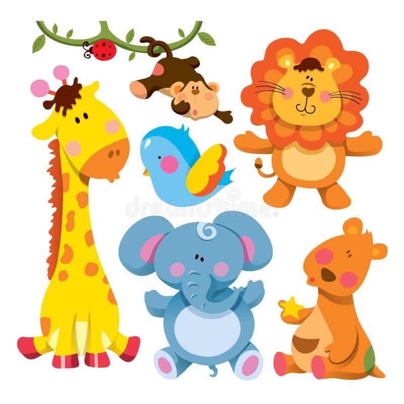 Collection mignonne d'animaux illustration de vecteur