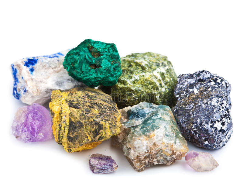 Download Collection of minerals stock image. Image of druse, metal - 28635321