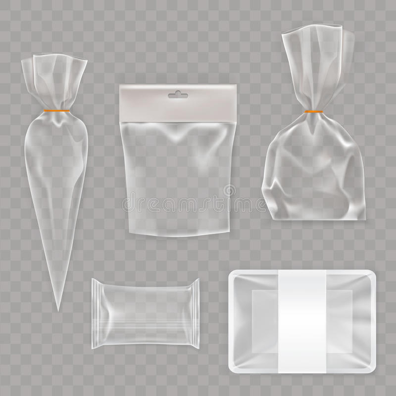 Collection mock up, packaging for food and snack products. Vector collection mock up, packaging for food and snack products. Package template design for stock illustration