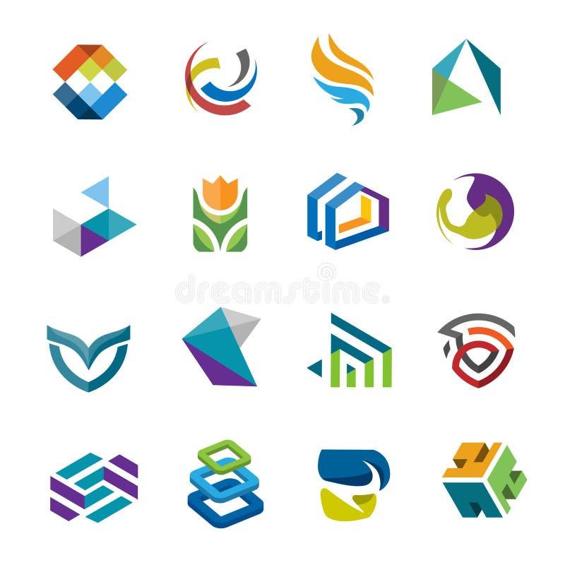 Collection moderne créative de vecteur de logo de résumé illustration libre de droits