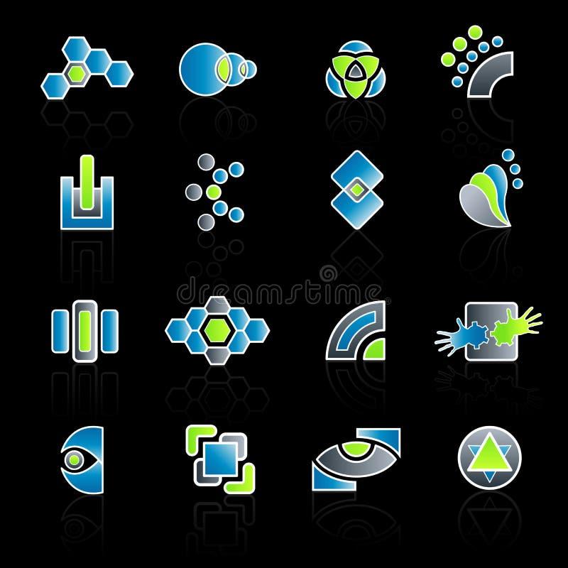Collection moderne de logo de compagnie illustration libre de droits