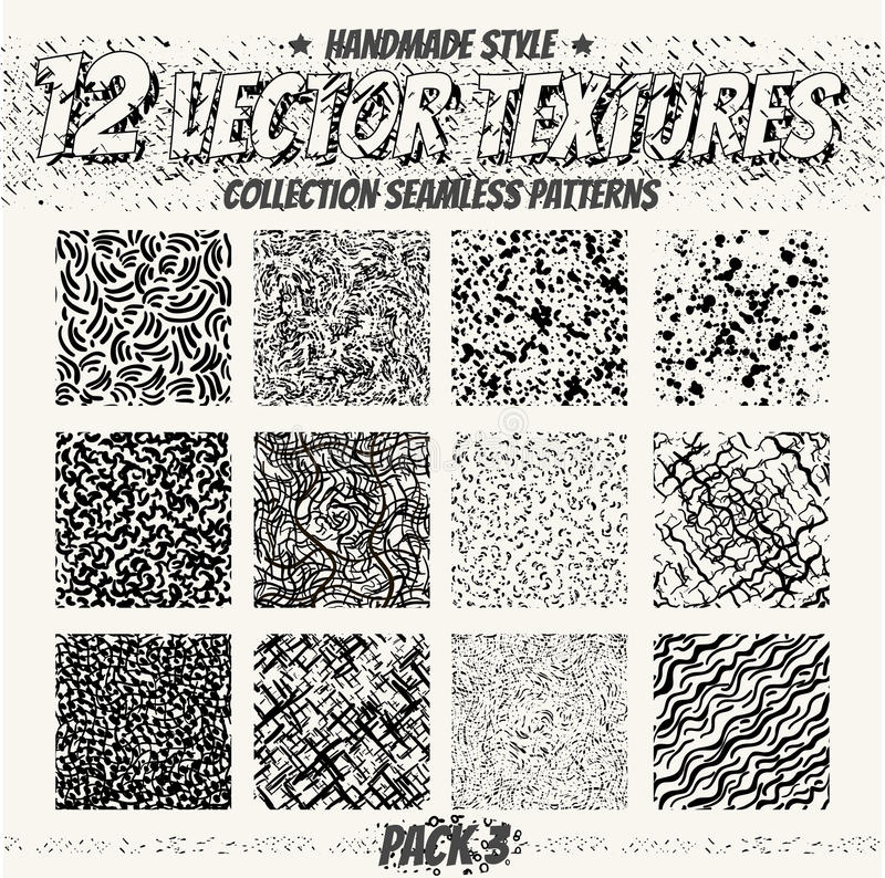 Collection Monochrome Seamless Textures For Digital Design