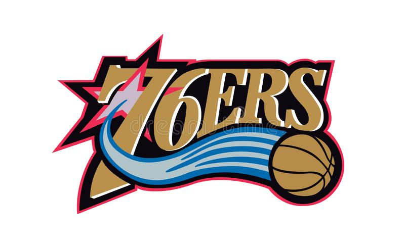 Collection of NBA team logos vector illustration. Editorial illustrative on white background royalty free illustration