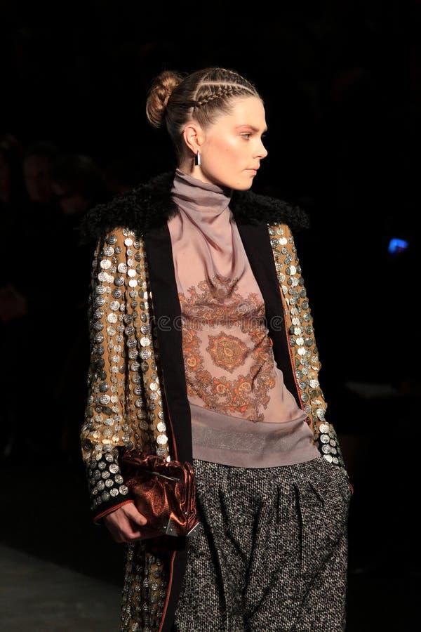 Collection neuve Milan 2011 d'automne - Copyspace photo stock