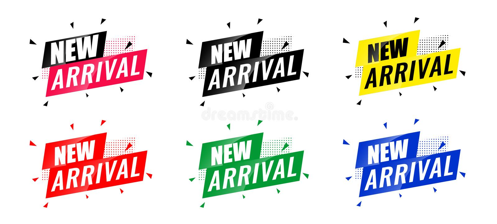 Collection of New Arrivals Text Vector Eps Stock Vector ...