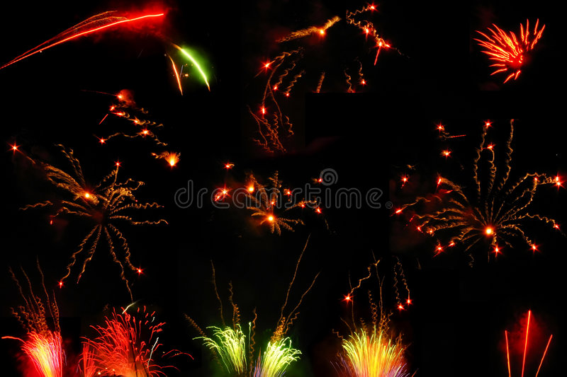 Collection of Night Fireworks