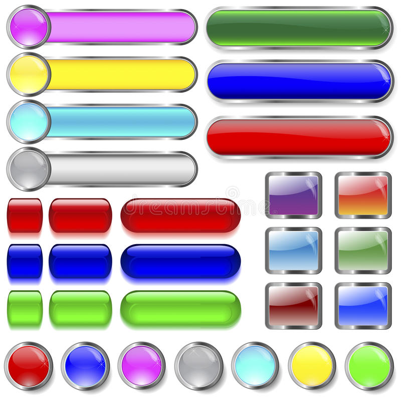 Free Collection Of Buttons. Royalty Free Stock Image - 20266306