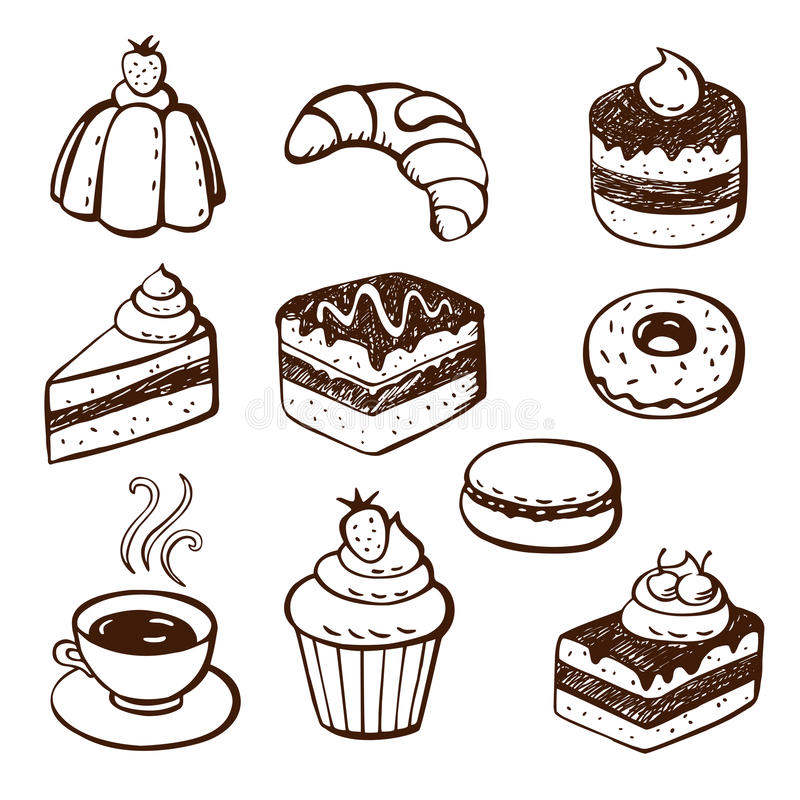 Free Collection Of Cake And Bakery Doodles Stock Photos - 29347073