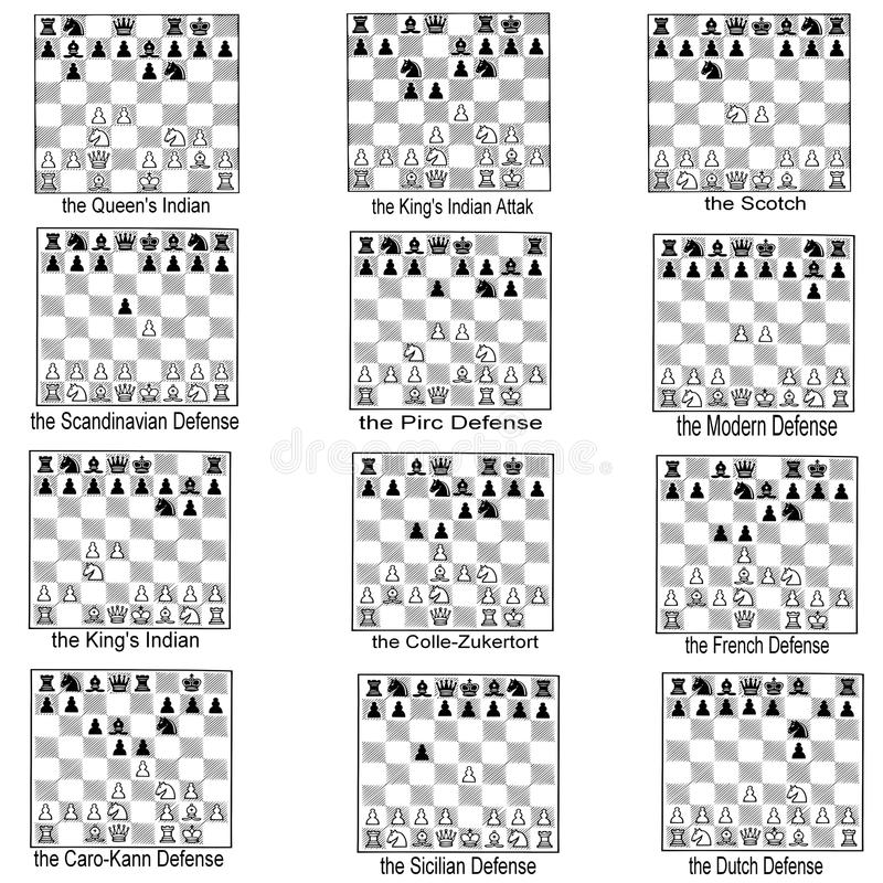 Free Collection Of Chess Openings Stock Photography - 14511052