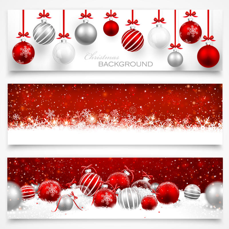 Free Collection Of Christmas Banners Royalty Free Stock Photo - 35783795