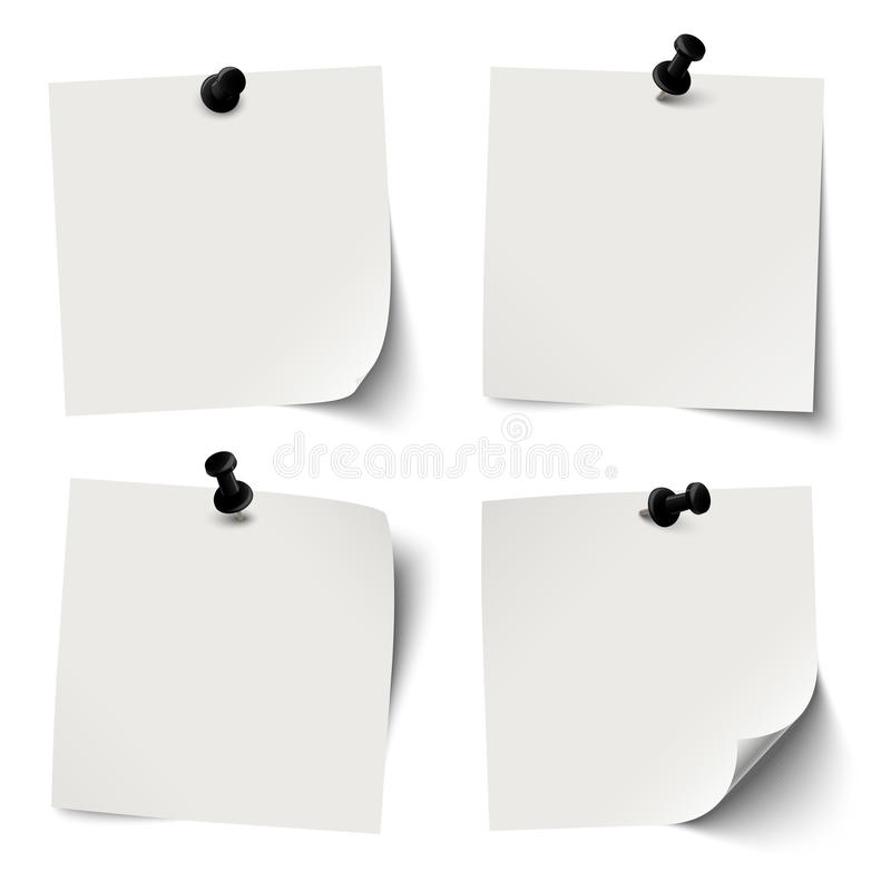 Free Collection Of Colored Sticky Papers With Black Pin Needle Stock Photo - 51185450
