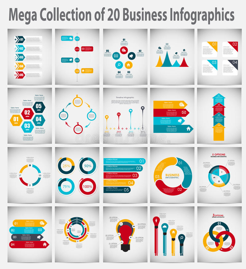 Free Collection Of Infographic Templates For Business Royalty Free Stock Photos - 49185658