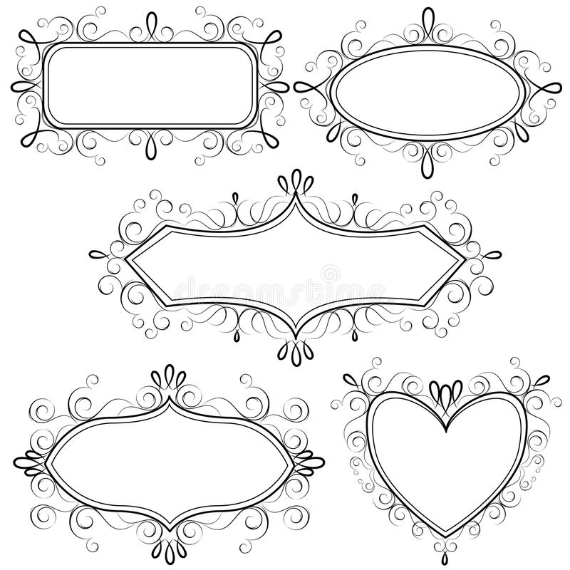 Free Collection Of Ornate Retro Frames Royalty Free Stock Image - 14555516