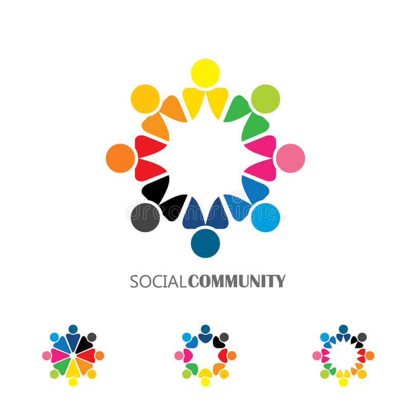 Free Collection Of People Icons In Circle - Vector Concept Engagement Stock Image - 59118421