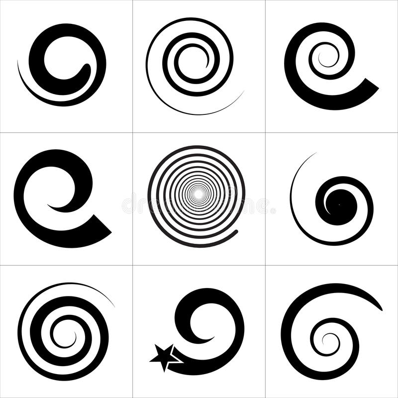 Free Collection Of Spiral Vector Elements. For Your Next Projects Royalty Free Stock Image - 81408776