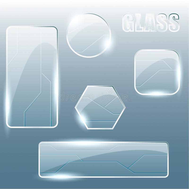 Free Collection Of Transparent Glass Banners Royalty Free Stock Photos - 19863708