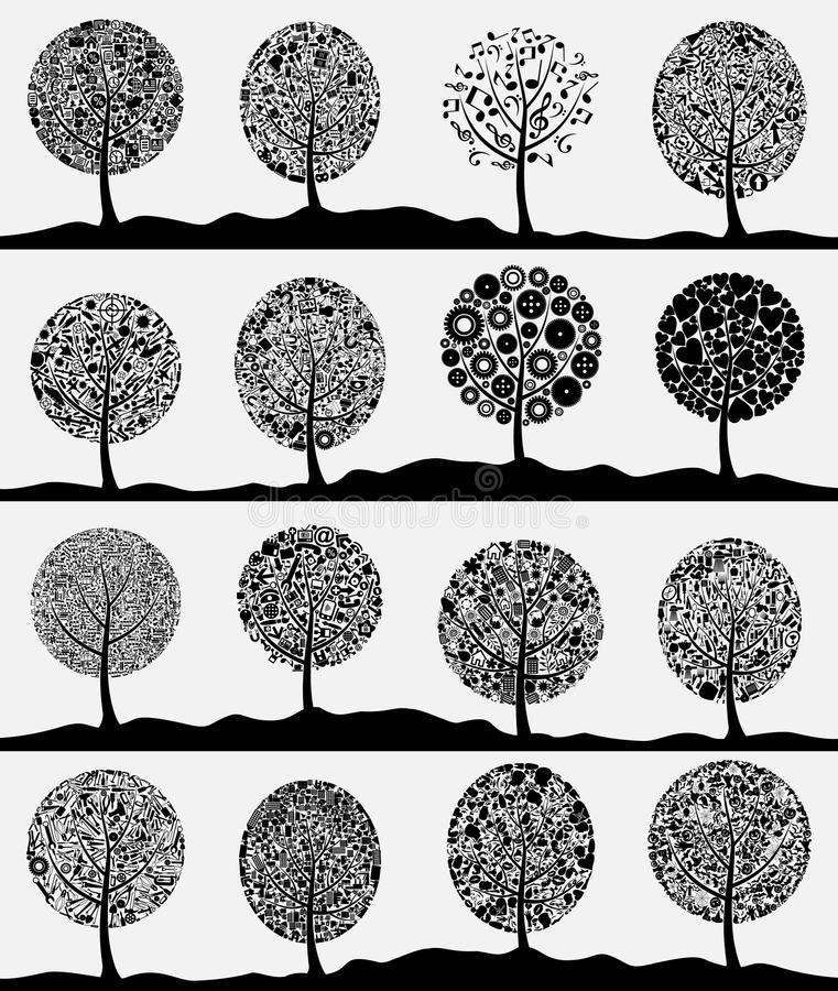 Free Collection Of Trees3 Stock Photography - 26180062