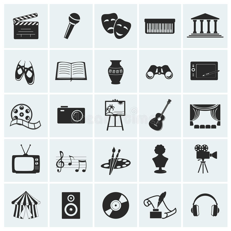 Free Collection Of Vector Arts Icons. Royalty Free Stock Photography - 32089097