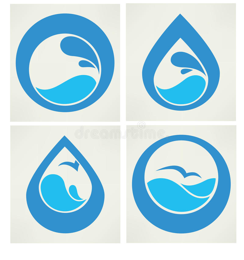 Free Collection Of Water Stickers Stock Photography - 42097302