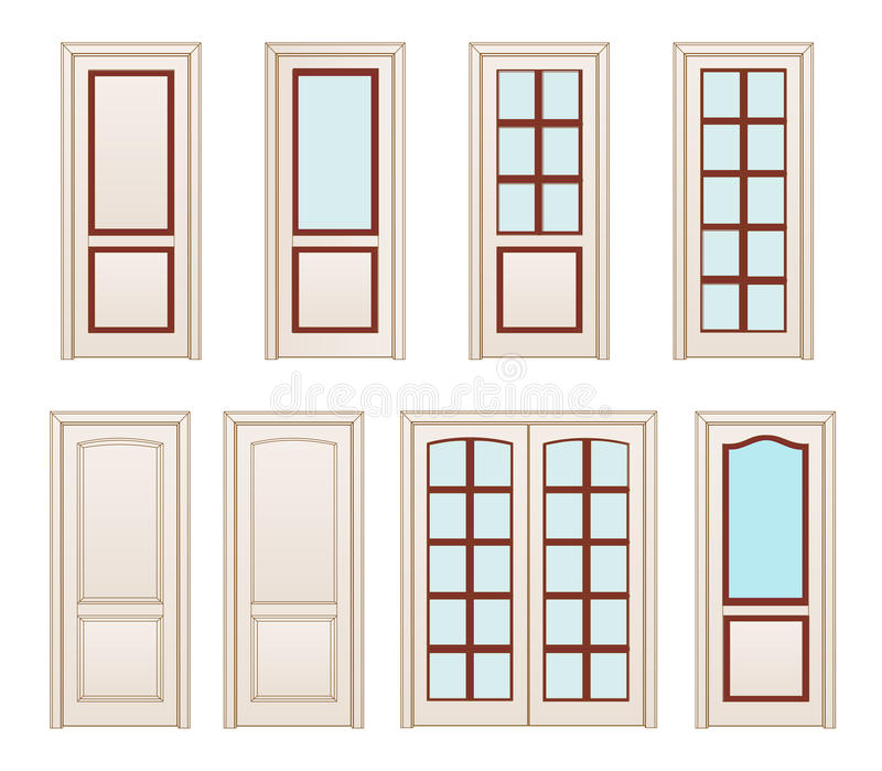 Collection Office White Doors, Set Technical Drawing. Classic ...